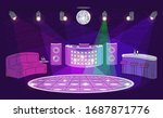 night club interior with empty... | Shutterstock .eps vector #1687871776