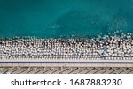aerial view of cement cube...   Shutterstock . vector #1687883230