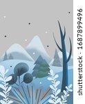 winter postcard trees nature... | Shutterstock . vector #1687899496