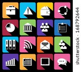 office and business flat icons...