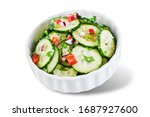 cucumber spice salad with red... | Shutterstock . vector #1687927600