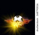 soccer ball in a abstract fire | Shutterstock . vector #168793016