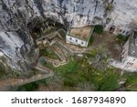 Aerial view of the grotto of...