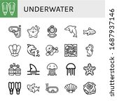 set of underwater icons. such... | Shutterstock .eps vector #1687937146