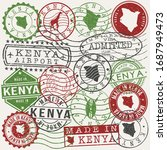 kenya set of stamps. travel... | Shutterstock .eps vector #1687949473