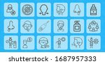 2019 ncov line icon set on... | Shutterstock .eps vector #1687957333