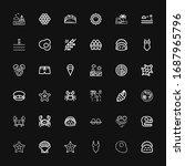 editable 36 shell icons for web ...   Shutterstock .eps vector #1687965796
