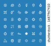 editable 36 accuracy icons for... | Shutterstock .eps vector #1687967410