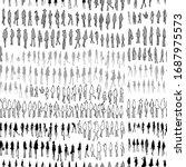 people doodle background... | Shutterstock .eps vector #1687975573