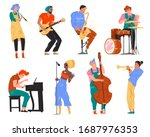 vector illustration of jazz... | Shutterstock .eps vector #1687976353