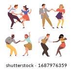 vector illustration of couples...   Shutterstock .eps vector #1687976359