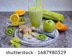 Nutritious Smoothie Of Celery ...
