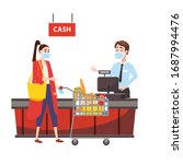 supermarket store counter... | Shutterstock .eps vector #1687994476
