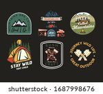 vintage camp patches logos ... | Shutterstock .eps vector #1687998676