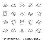 set of cloud vector line icon.... | Shutterstock .eps vector #1688001559