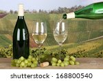 white wine pouring from a...   Shutterstock . vector #168800540