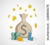 money bag | Shutterstock .eps vector #168800678