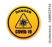 sign caution coronavirus. stop...   Shutterstock .eps vector #1688025916