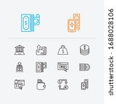banking icons set. mobile...