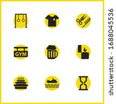 activity icons set with...   Shutterstock .eps vector #1688045536
