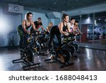 Cycling Class In Fitness Club ...