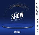 round podium. scene  pedestal... | Shutterstock .eps vector #1688058310