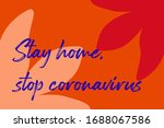 let's stay home  work at home...   Shutterstock .eps vector #1688067586
