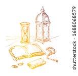 quran book. islamic religious...   Shutterstock .eps vector #1688068579