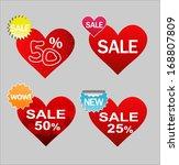 sticker price tag gift heart... | Shutterstock .eps vector #168807809