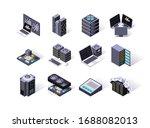 data center isometric icons set....   Shutterstock .eps vector #1688082013