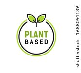 plant based vegan badge eco... | Shutterstock .eps vector #1688094139