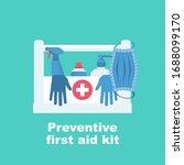 preventive first aid kit.... | Shutterstock .eps vector #1688099170