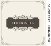 flourishes frame. vintage...   Shutterstock .eps vector #1688103490