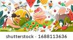 summer memories  happy people... | Shutterstock .eps vector #1688113636