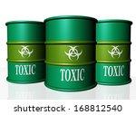 toxic green barrels    Shutterstock . vector #168812540