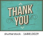 thank you greeting template... | Shutterstock .eps vector #168813029