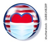 round glass button in usa flag...   Shutterstock .eps vector #1688148289