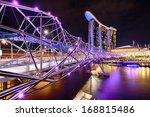 The Helix Bridge With Marina...