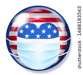 round glass button in usa flag...   Shutterstock .eps vector #1688183563