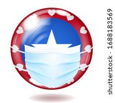 round glass button in usa flag...   Shutterstock .eps vector #1688183569