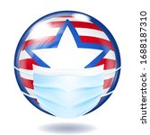 round glass button in usa flag...   Shutterstock .eps vector #1688187310