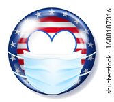round glass button in usa flag...   Shutterstock .eps vector #1688187316