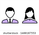 vector avatar profile icons of... | Shutterstock .eps vector #1688187553