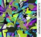 abstract grunge geometric... | Shutterstock .eps vector #1688187673