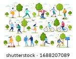 people in sport outdoor... | Shutterstock .eps vector #1688207089