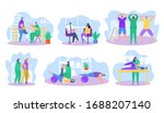 physiotherapy rehabilitation...   Shutterstock .eps vector #1688207140