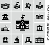 school building icon | Shutterstock .eps vector #168821423