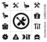 tools icons | Shutterstock .eps vector #168821438
