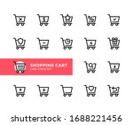 shopping cart vector line icons.... | Shutterstock .eps vector #1688221456