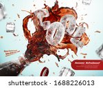 ad template for fresh iced cola ... | Shutterstock .eps vector #1688226013